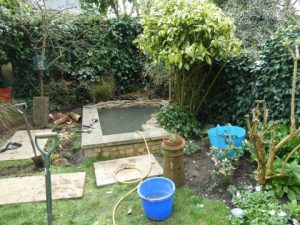 London pond refurbishment