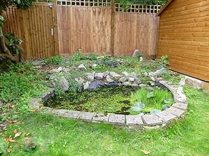 Refurbishment of a small pond, Harpenden, Hertfordshire