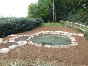 Great Missenden pond construction example